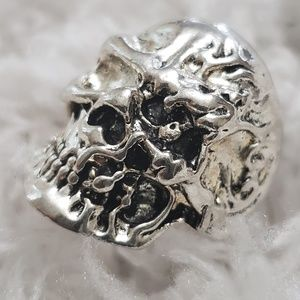 Skull Ring Stainless Jewerly Fashion Punk Silver